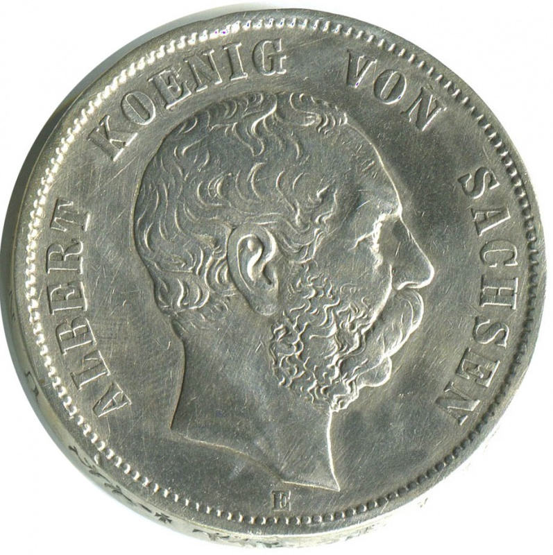 Альберт старый тип орла серебро 27 8 гр